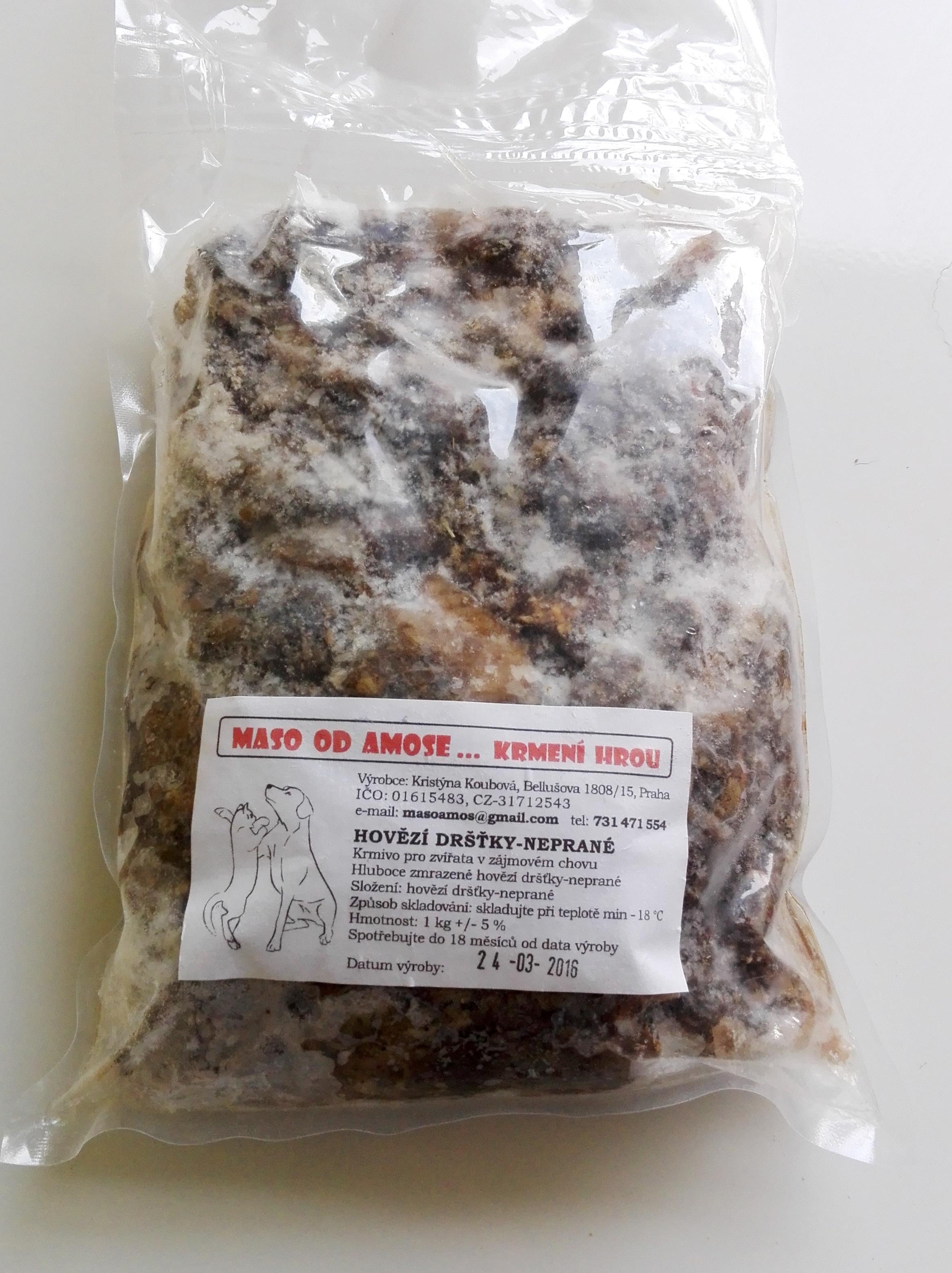Hovězí neprané dršťky sekané 1kg - Maso od Amose