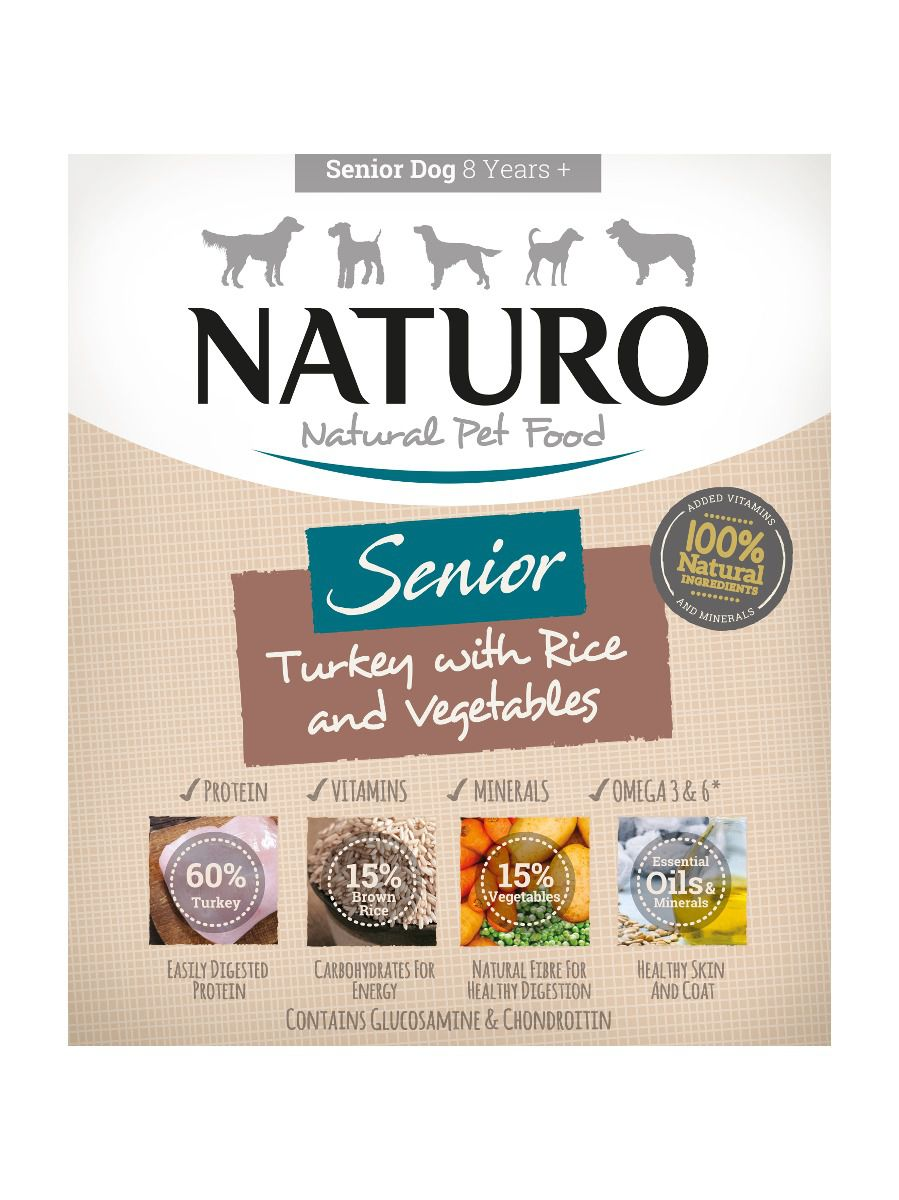Naturo Dog Senior Turkey & Rice with Vegetables 400g