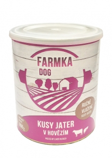 FARMKA DOG s játry 800g - Sokol Falco