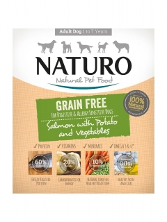 Naturo Grain Free Salmon&Potato with Vegetables 400g