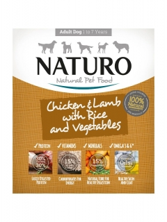 Naturo Adult Chicken, Lamb&Rice with Vegetables 400g